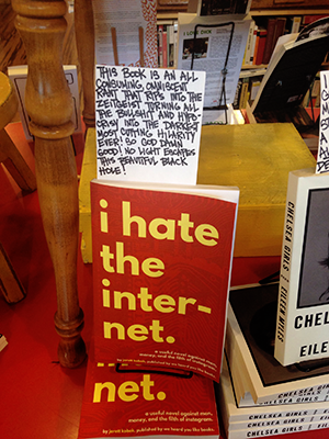 I Hate the Internet at Alley Cat Books in San Francisco.