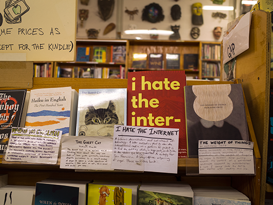 I Hate the Internet at Green Apple Books in San Francisco.