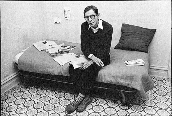 Boyd McDonald, 1981. Sitting in the Single Room Occupancy where he edited Straight to Hell.