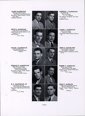 "Boyd McDonald in the 1950 Harvard Yearbook. According to John Ashbery, Boyd displayed, ""absolutely no hint of the sex guru he was to become."""
