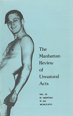 """The Manhattan Review of Unnatural Acts"" was one of Straight to Hell's many, many subtitles."